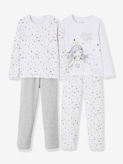 Fille-Pyjama, surpyjama-Lot de 2 pyjamas velours fille combinables