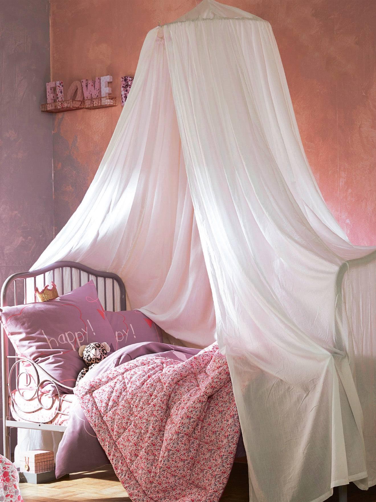 Ciel de lit Cocoon - blanc, Rangement et décoration