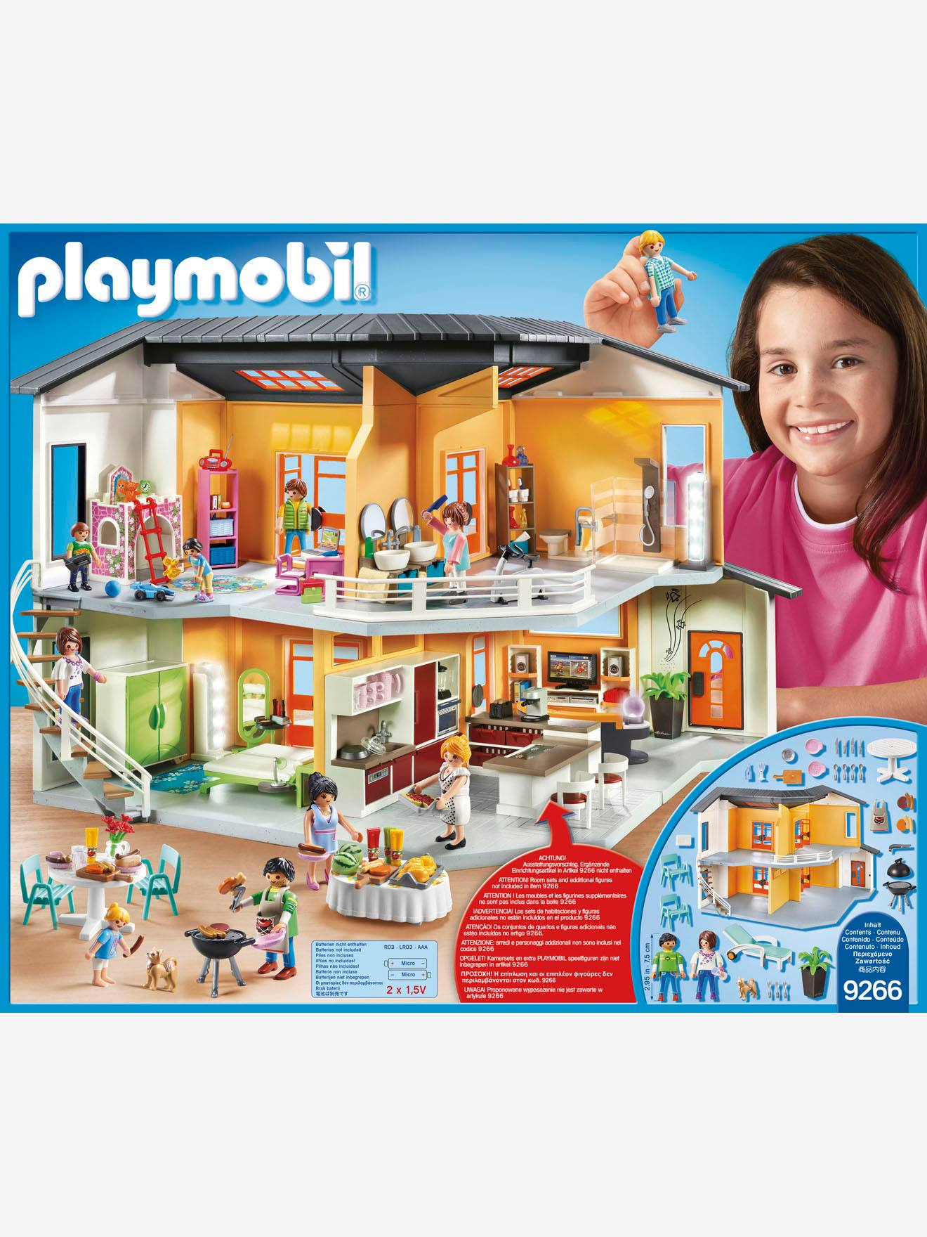 Playmobil vie quotidienne gilet orange