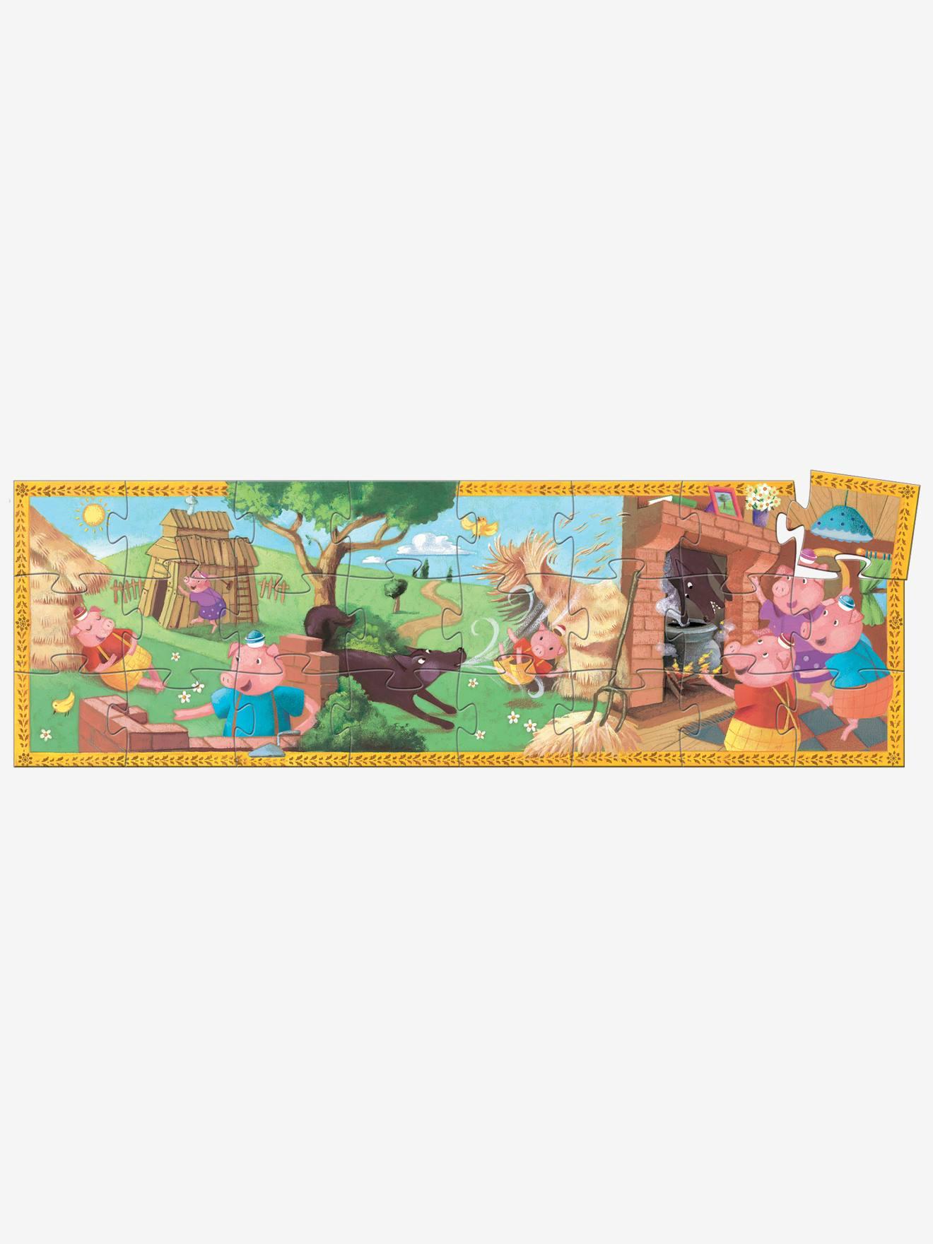Puzzle Les 3 Petits Cochons 24 Pieces Djeco Multicolore