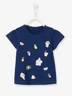 Baby-T-shirt, souspull-T-shirt-T-shirt motief in reliëf babymeisje