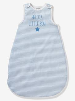 Linnengoed en decoratie-Baby beddengoed-Trappelzalen-Zomerse mouwloze trappelzak HELLO LITTLE BOY