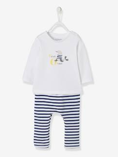 Baby-Babyset-Set piratenkat babyjongen T-shirt en broek