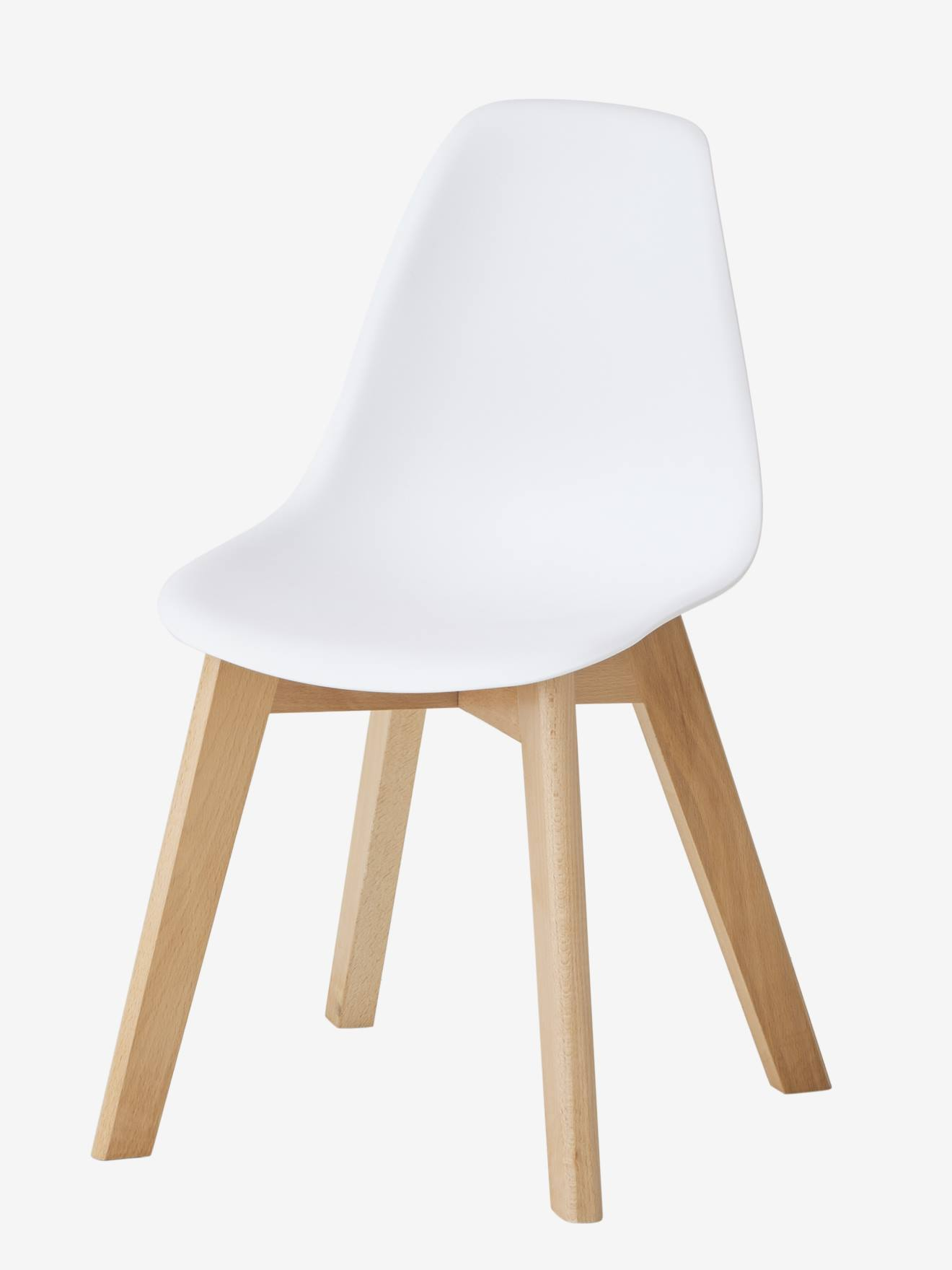 Chaise Spécial Maternelle Scandinave, Assise H 33 Cm   Blanc