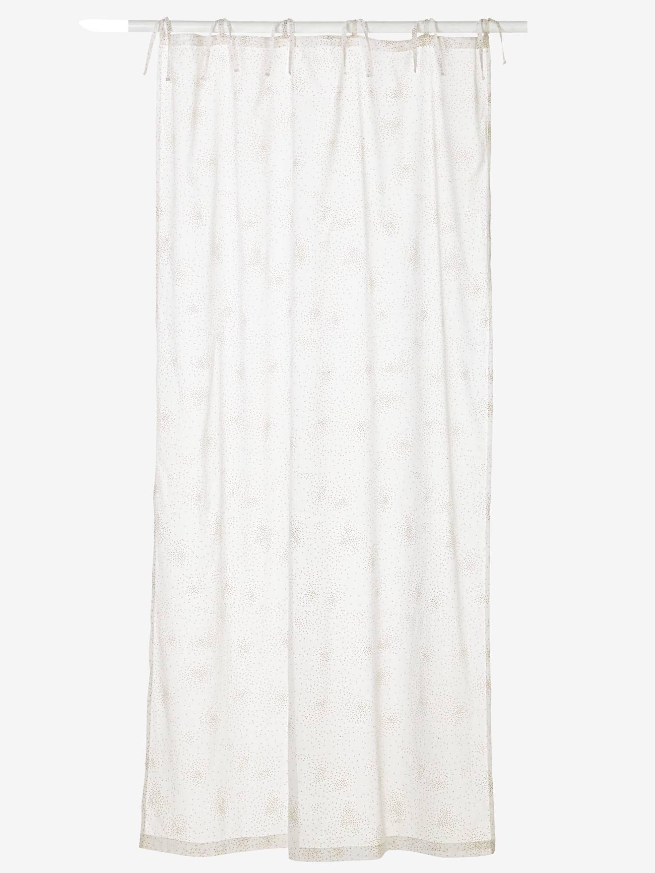 Rideau Voilage Pailleté Féérie Blanc Paillettes Linge De Maison Et Décoration