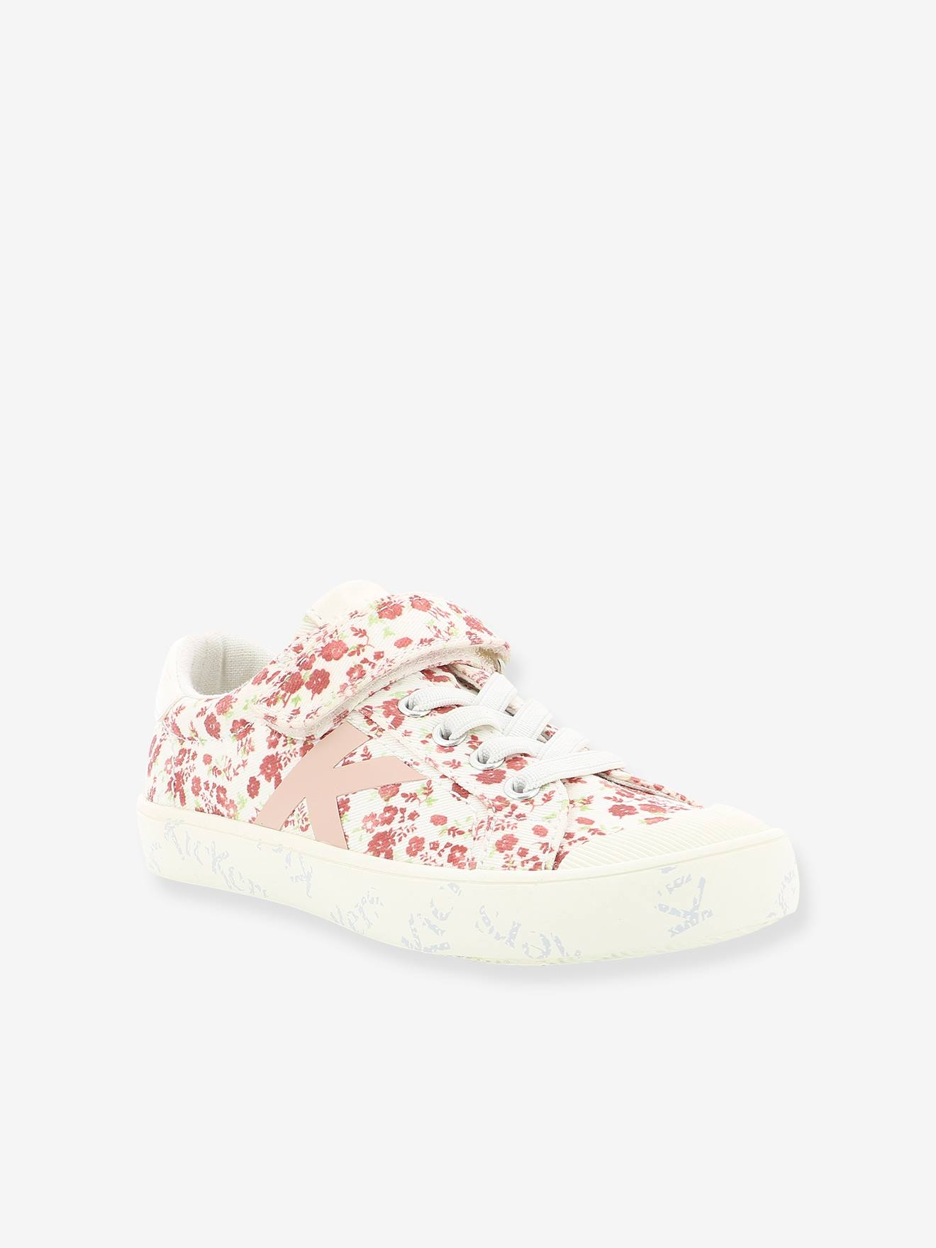 Baskets Sneakers fille Gody KICKERS® blanc fleuri, Chaussures