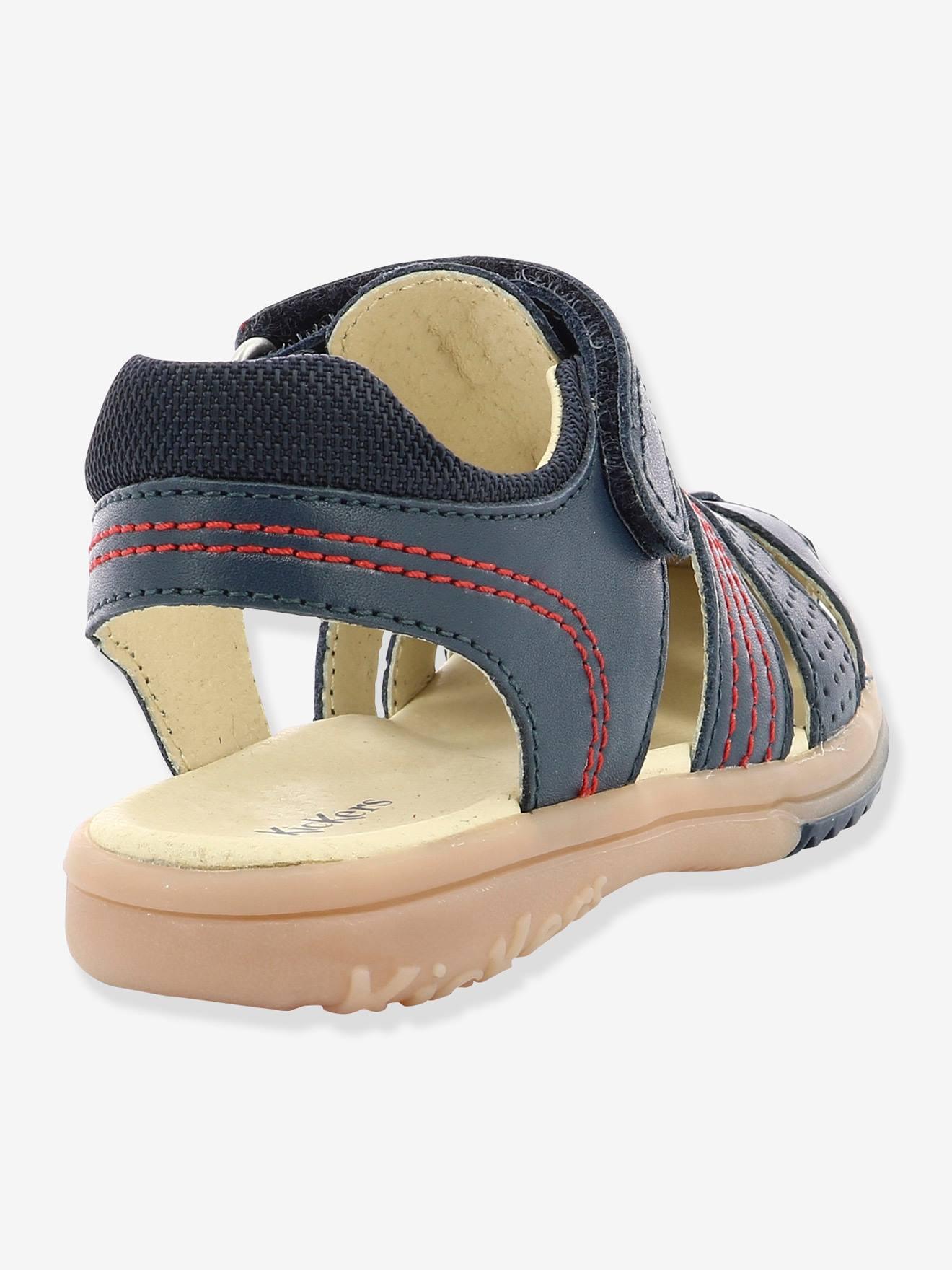 d87cfe37ff503 Garçon En Platinium Sandales Cuir Kickers®Chaussures Y6g7bfy