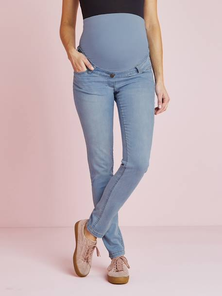 Jean slim stretch de grossesse entrejambe 85 DENIM BLACK+DENIM BRUT+DENIM GRIS CLAIR+TRIPLE STONE - vertbaudet enfant