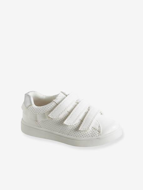 anders nieuw kopen een grote verscheidenheid aan modellen Gymschoenen met klittenband voor meisjes - wit, Schoenen