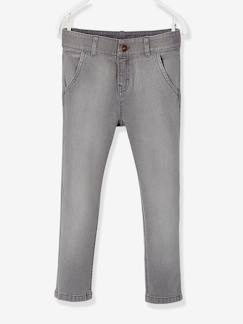 Jongens-Jean-Straight-fit jongensjeans in chino look