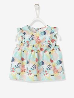 Baby-Overhemd, blouse-Blouse met ruches babymeisje