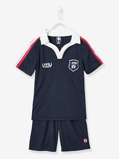 Jongens-Short-Set jongenspolo + rugby shirt FFR®