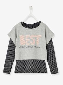Fille-Collection sport-Esemble fille T-shirt + débardeur sport