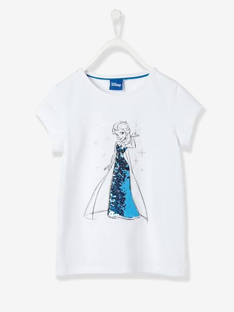 80f2737368e4 T-shirt fille Reine des neiges® à sequins réversibles Blanc - vertbaudet  enfant ...