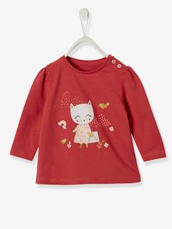 Baby-T-shirt, souspull-T-shirt babymeisje met decoratieve applicaties