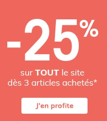 -25% sur TOUT dès 3 articles achetés*