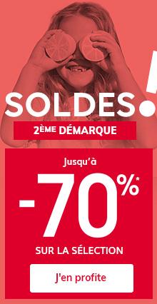 SOLDES - Jusqu'à -70%* sur la sélection