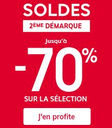 Jusqu'à -70%* sur la sélection SOLDES