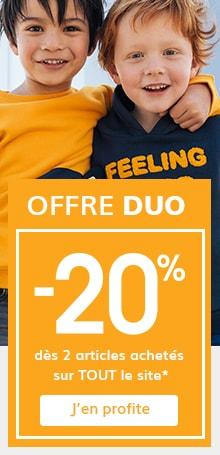 -20% dès 2 articles achetés sur TOUT le site !*