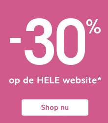 -30% op de HELE website*
