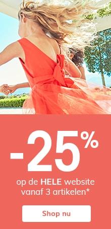 -25% op de HELE website vanaf 3 artikelen*