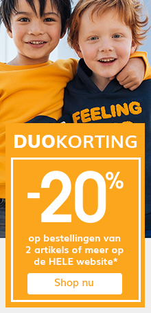 -20% op bestellingen van 2 artikels of meer op de hele website*!