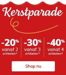 Kerstparade: -20% vanaf 2, -30% vanaf 3, -40% op bestellingen van 4 artikels of meer!*